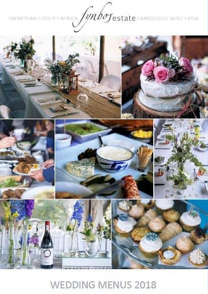 Wedding Menus 2018