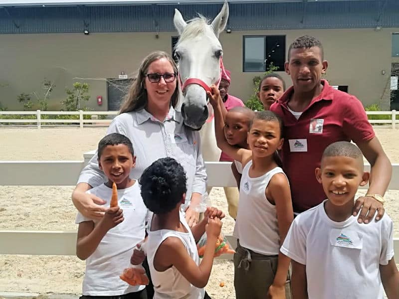 Lipizzaners and at risk kids Cape Town South Africa