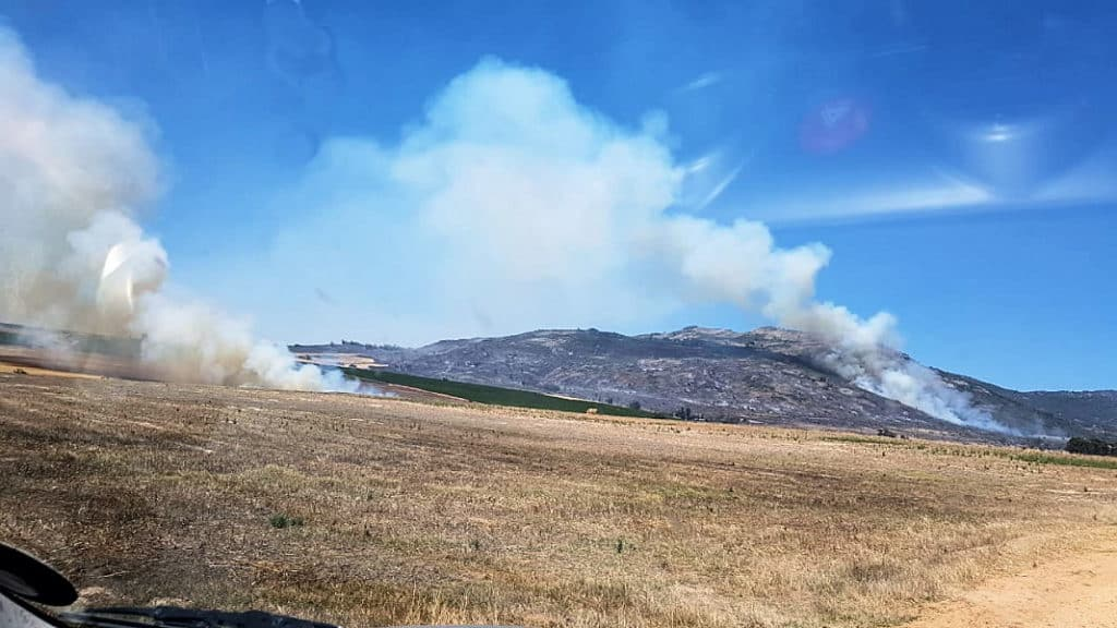 Fire on the Paardeberg