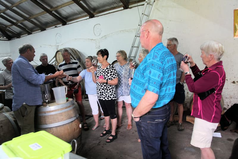 Tour groups visiting Fynbos farm near Cape Town