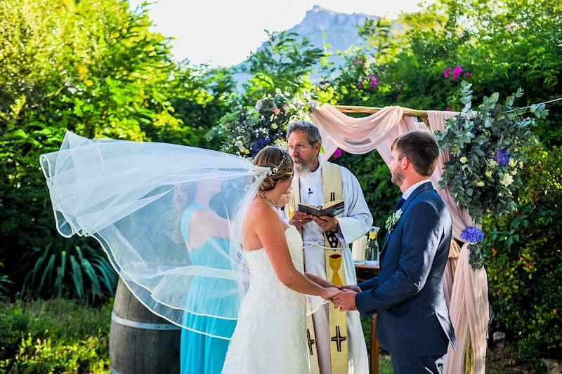 Country garden wedding at Fynbos Estate near Cape Town