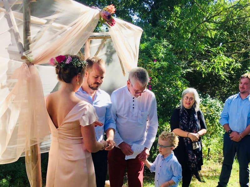 Country garden wedding venue on a farm near Cape Town